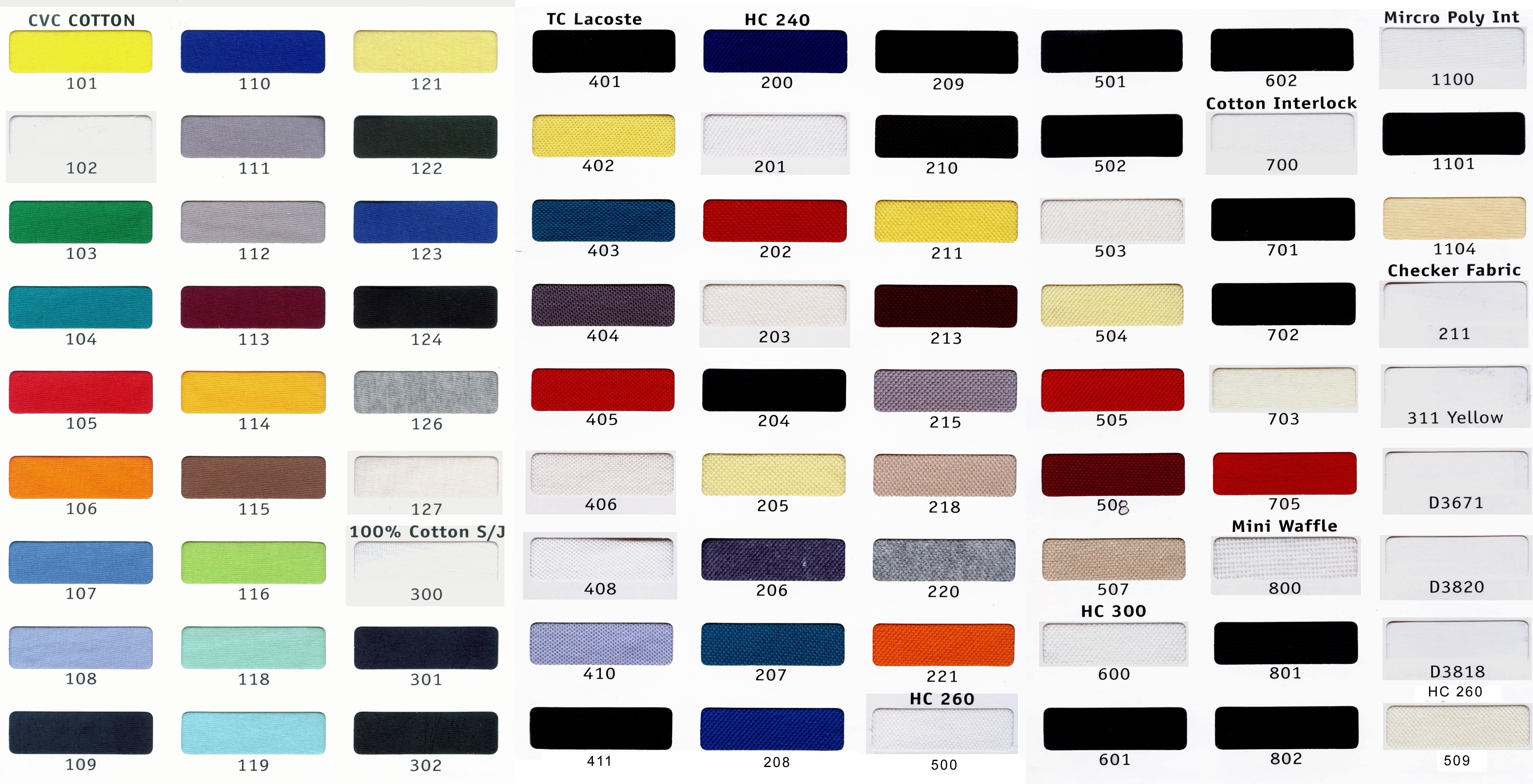 Click Here To View Colour Chart
